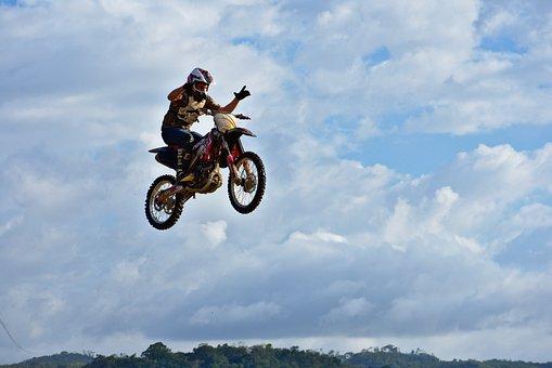 No Hander, Bike, Stunt, Wheel, Sky, Freedom, Hurry
