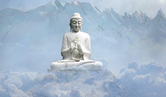 Sky, Travel, Snow, Statue, Sculpture, Buddha, Religion