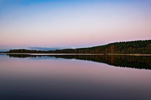 Waters, Lake, River, Reflection, Nature, Abendstimmung