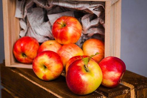 Apple, Fruit, Food, Healthy, Wood