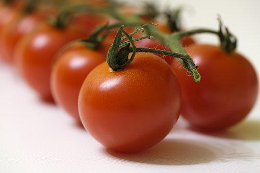 Tomatoes, Vegetables, Red, Food, Bush Tomatoes, Trusses