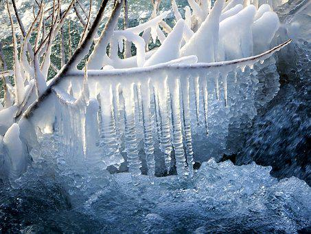 Icicles, Snow, Winter, Spring, Drops, Frost, Coldly