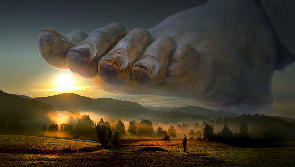 Fantasy, Landscape, Foot, Surreal, Large, Huge, Sun