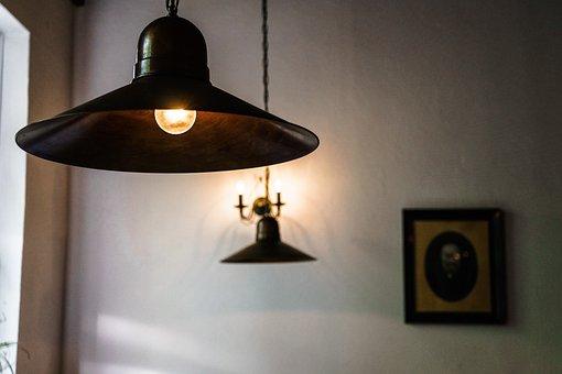 Lamp, Illuminated, Light, Room, Contemporary