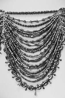 Ancient Necklace, Bronze Age, Black And White