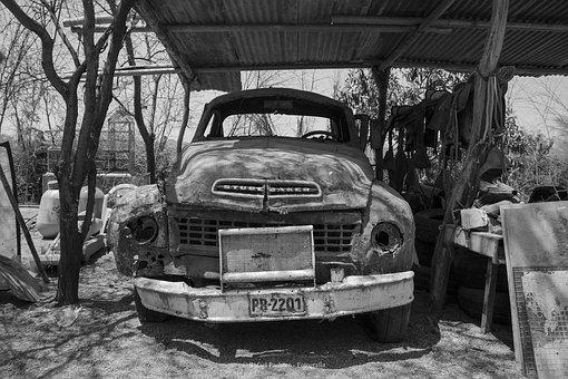 Old Cars, Black And White, Antique Car, Cars