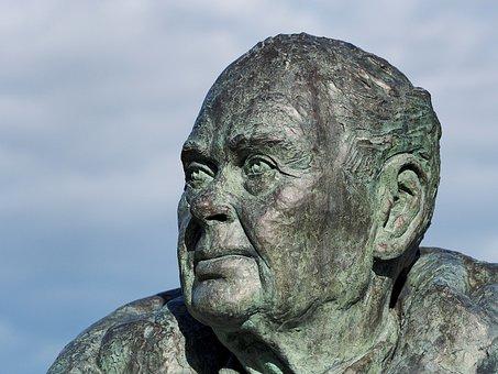 Statue, Bronze, Bust, Sculpture, Head, Face, Peter