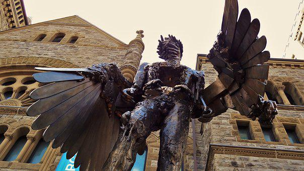 The Eye, Bronze, Statue, Wings, David Altmejd, Montreal