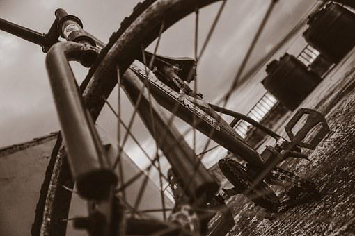 Bicycle, Urban, District, Hoops, Pedals, Street Art