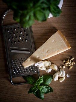 Parmesan, Garlic, Baslikium, Pine Nuts, Grater