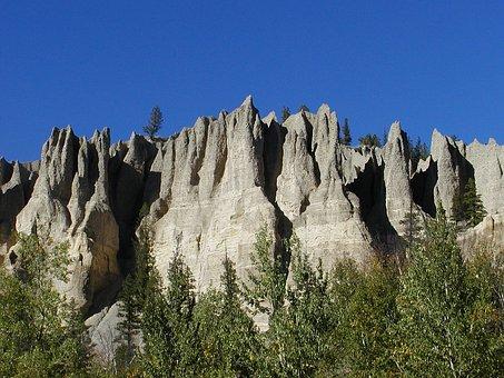 Hoodoos, Landform, Erosion, Sedimentary, Badland