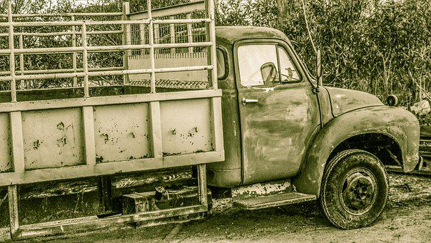 Truck, Old, Vehicle, Car, Antique, Vintage, Rusty
