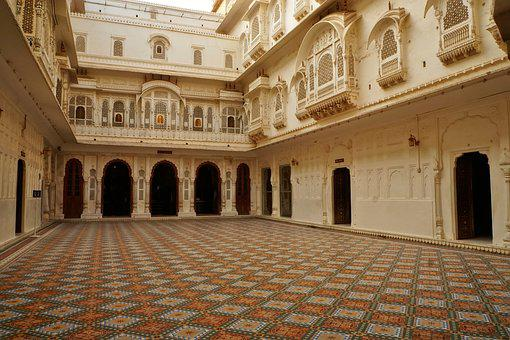 Architecture, Travel, Courtyard, Old, Building, Palace