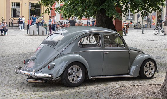 Auto, Vw, Beetle, Oldtimer, Classic, Automotive
