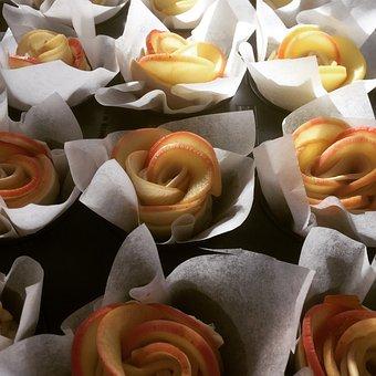 Background, Food, Flower, Color, Close, Rose, Dessert