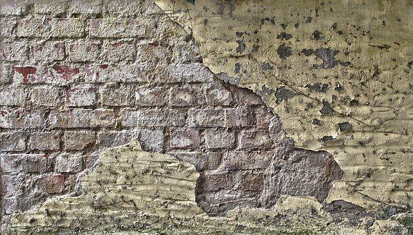 Stone Wall, Weathered, Brick, Grunge, Old, Texture