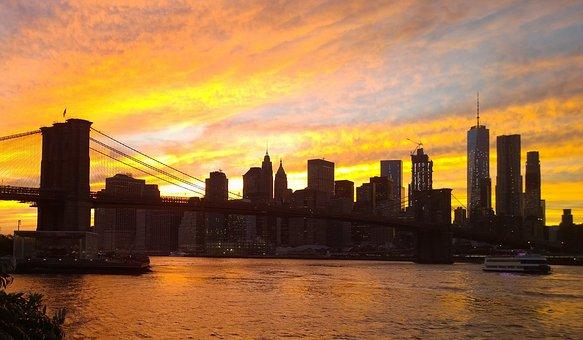 Manhattan, Nyc, New York, Usa, East River