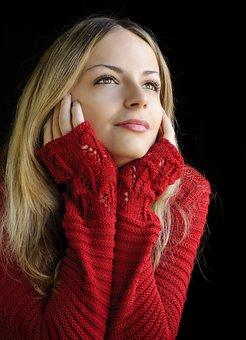Woman, Fashion, Winter, Portrait, Young, Girl, Model