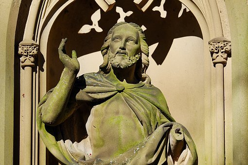 Cemetery, Grave, Tombstone, Sculpture, Figure, Jesus
