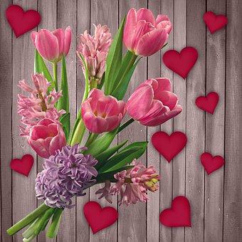 Flower, Tulip, Bouquet Of Flowers, Plant, Floral, Wood