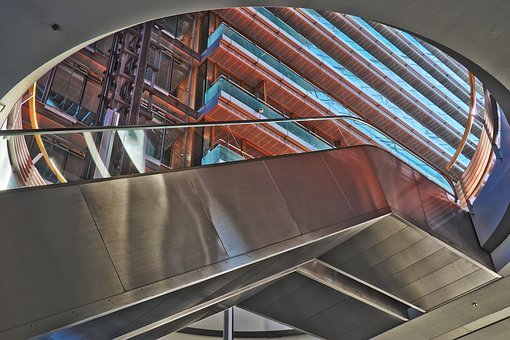 Gradually, Architecture, Modern, Steel, Metal, Glass