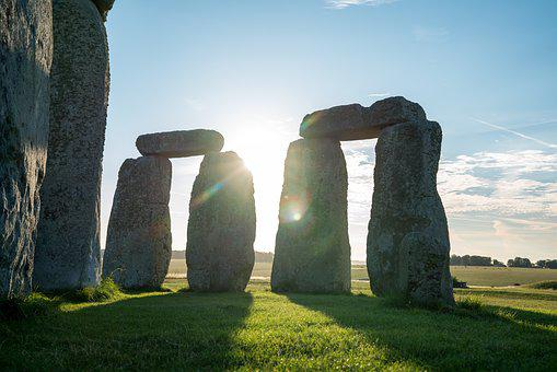 Stonehenge, Megalith, Monument, Outdoors, Grass, Stone