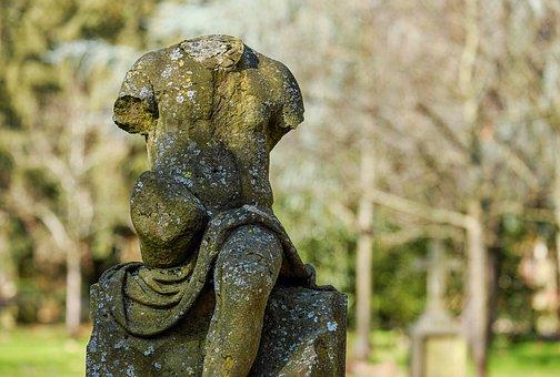 Cemetery, Grave, Tombstone, Sculpture, Figure, Statue