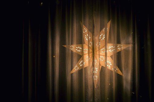 Light, Illuminated, Xmas, Art, Abstract, Gold