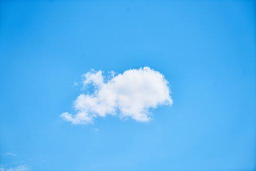 Nature, Sky, Summer, Fluffy, Space, Cloud, Blue, Clouds
