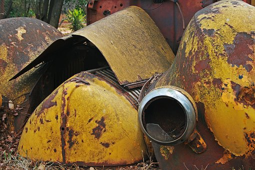 Car Wreck, Old, Rusty, Car, Vintage, Wreck, Abandoned