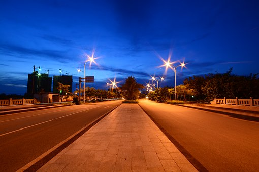 Road, Transport System, Twilight, Street, Traffic