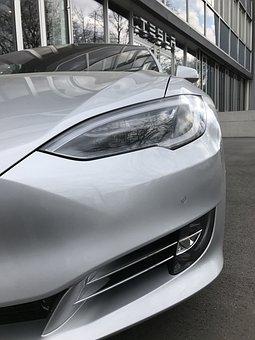 Auto, Vehicle, Transport System, Shiny, Chrome, Tesla