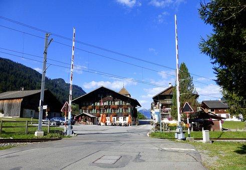 Building, Switzerland, Mountain, Station