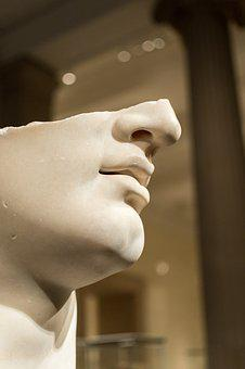 Adult, People, Face, Young, Side View, Sculpture, Man