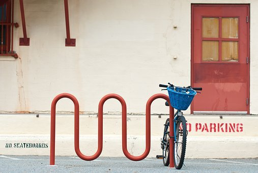 House, Family, Architecture, Bicycle, Cycling, Basket