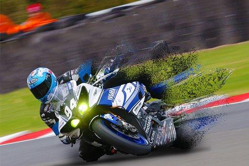 Race, Bike, Biker, Fast, Racer, Racetrack, Motor