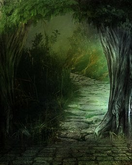 Fantasy, Landscape, Forest, Secret, By Look, Surreal