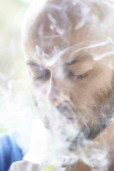 Portrait, Male, Smoke, Cigarette, Beard, Bald, Adult