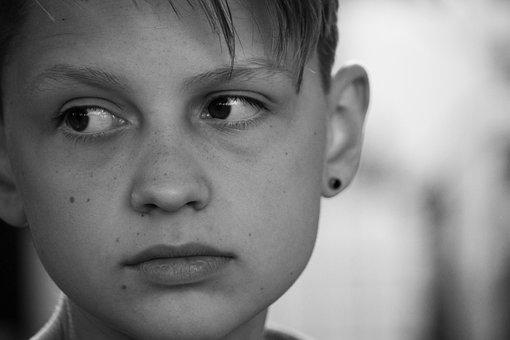Portrait, Human, A, Adult, Child, Facial Expression
