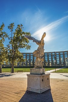 Montpellier, France, Sky, Statue, Architecture