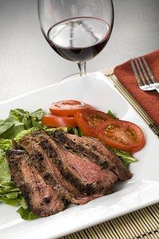 Food, Meat, Steak, Meal, Dinner, Epicure, Beef, Closeup