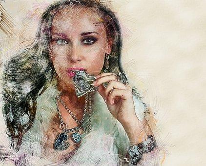 Portrait, Model, Style, Heart, Fashion, Female, Person