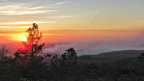 Sunset, Nature, Dawn, Dusk, Panoramic, Sun, Sky
