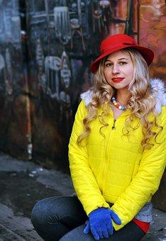 Cap, Red Hat, Retro, Vintage, Portrait, People