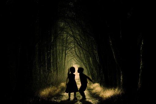People, Adult, Dark, Woman, Man, Mystery, Shadow, Tree