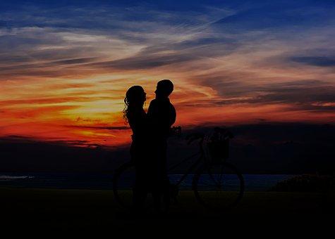 Sunset, Dusk, Silhouette, Backlit