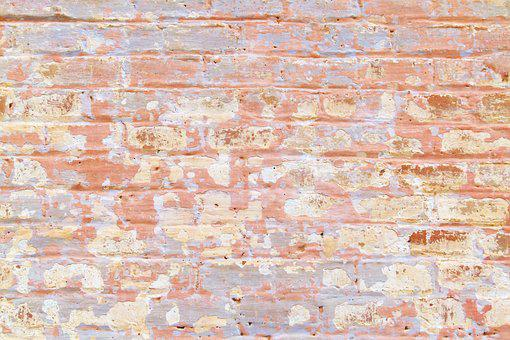 Pattern, Bricks, Background, Texture, Peeling Paint