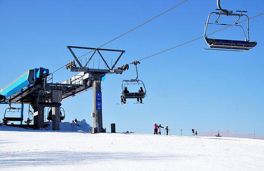 Cableway, Seater, Ski Areal, Winter Sport, Snow