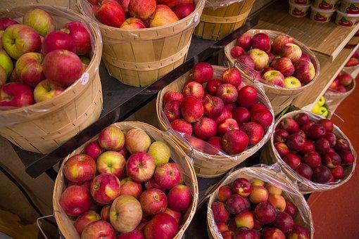 Fruit, Market, Food, Basket, Apple, Fall, Juicy