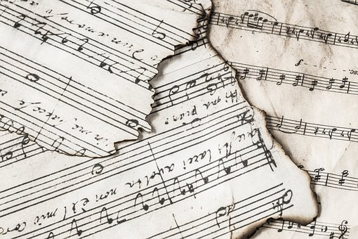 Paper, No Person, Sketch, Music Notes, Music, Nuts